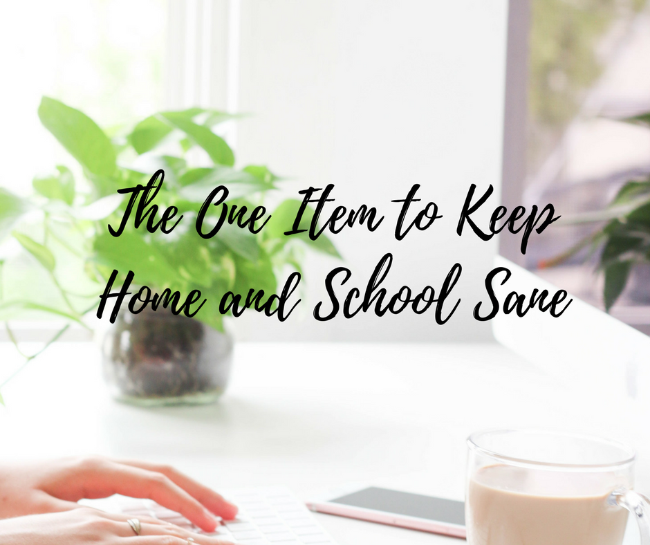 The One Item to keep Home and School Sane