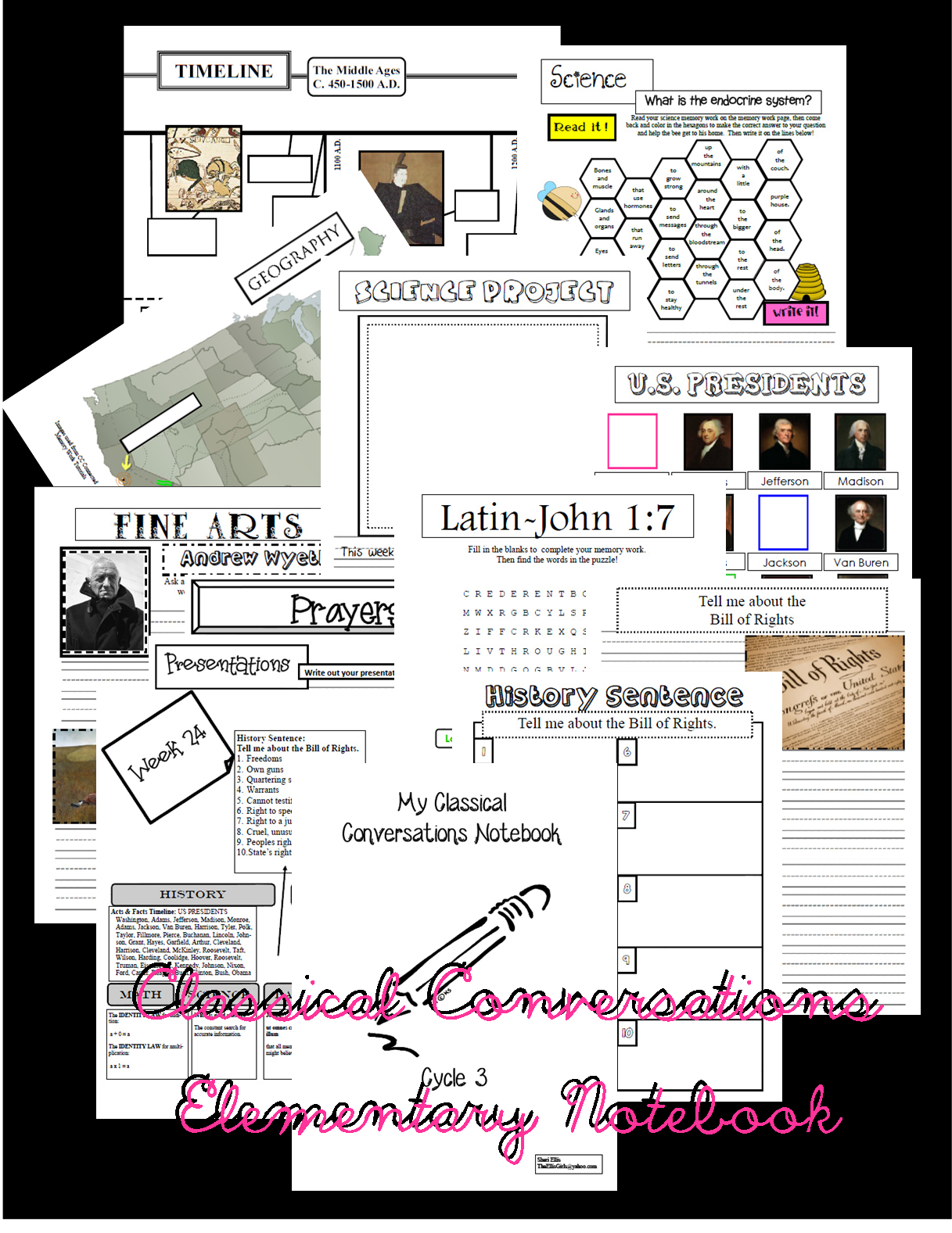 Classical Conversations Notebooking Pages