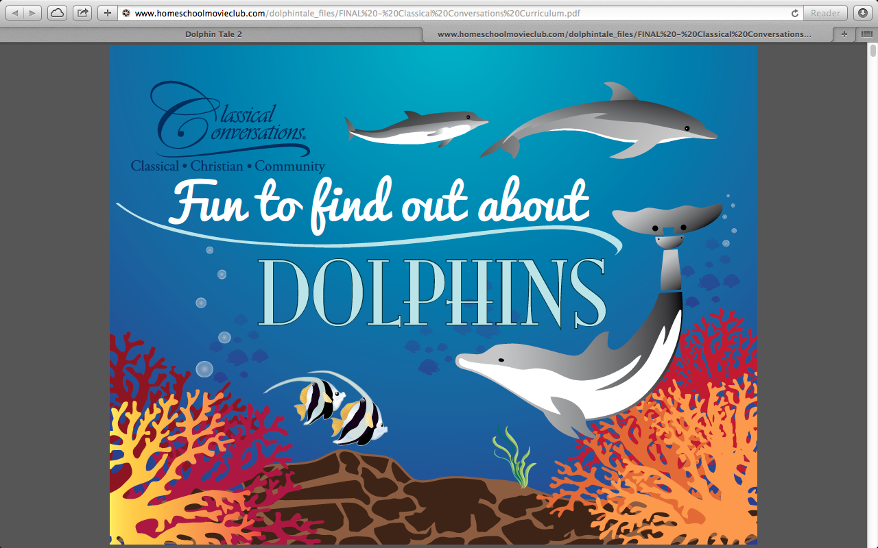 Classical Conversations Dolphin Tale Free Curriculum