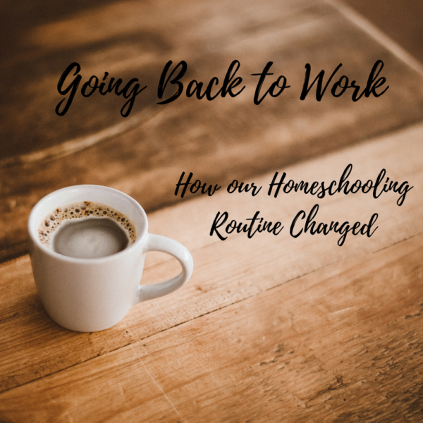 Going back to work: How Our Homeschooling Routine Changed